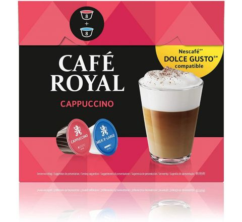 Cafe Royal Cappuccino Coffee Pods Compatible with The Nescafé Dolce Gusto System.Pack of 3.