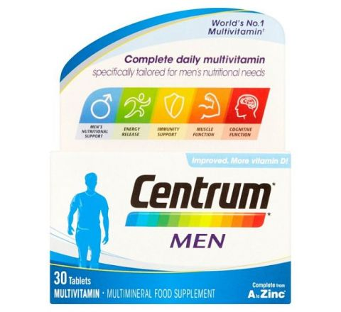 Centrum Complete Daily Multivitamin 30 Tablets for Men