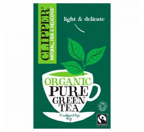 Clipper Natural Fair & Delicious Organic Pure Green Tea 20 Bags