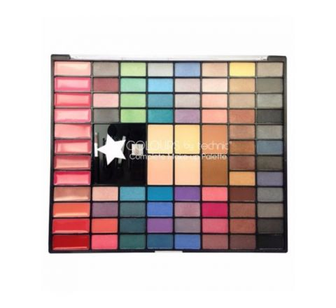 Colours by Technic Face Palette - 64 EYESHADOWS, 12 LIPGLOSSES, 2 BRONZERS, 2 BLUSHERS