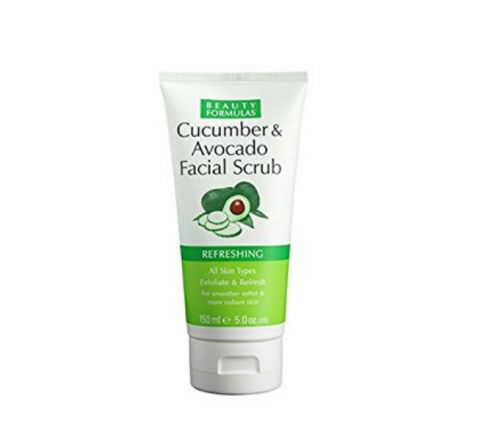 Beauty Formulas Cucumber & Avocado Facial Scrub - 150ml