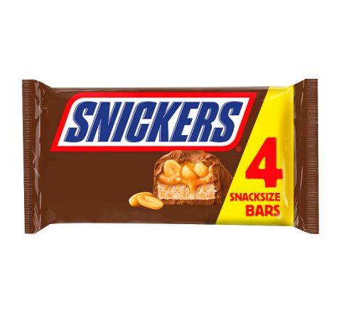 Mars Snickers 4 Pack Snack Size