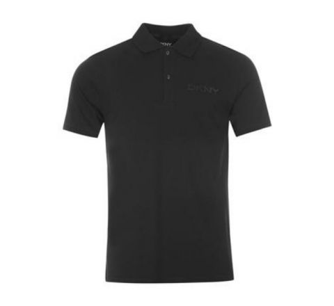 Chest Contrast Polo Mens Shirt by DKNY - Black