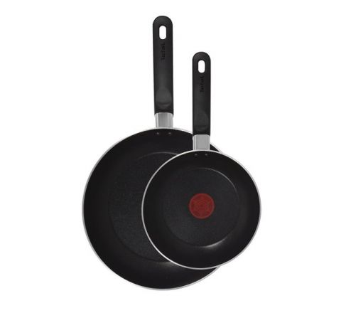 Tefal Taste Twin Pack Fry Pans - Black