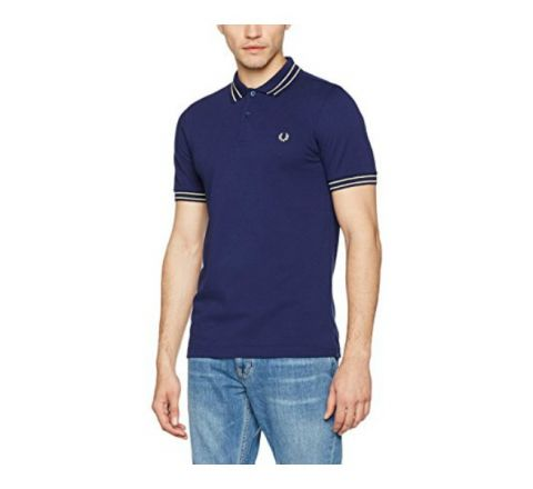 Fred Perry Men's Fp Tramline Polo Shirt - Blue French Navy