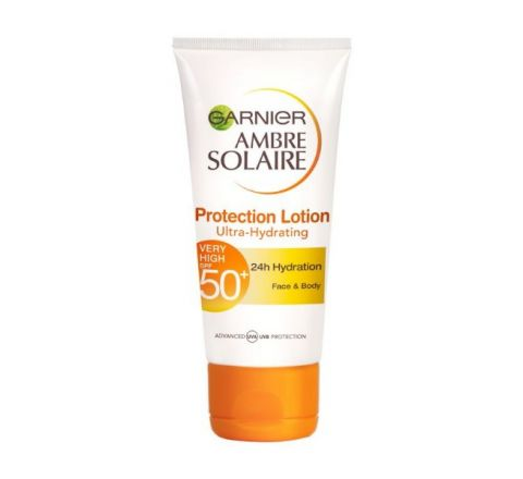 Garnier Ambre Solaire Ultra-hydrating Sun Cream SPF50+ 50ml Travel