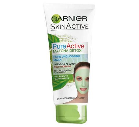 Garnier Pure Active Matcha Clay Detox Mask Oily Skin 100ml