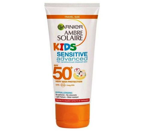 Garnier Ambre Solaire Kids Sensitive Sun Cream SPF50+ 50ml