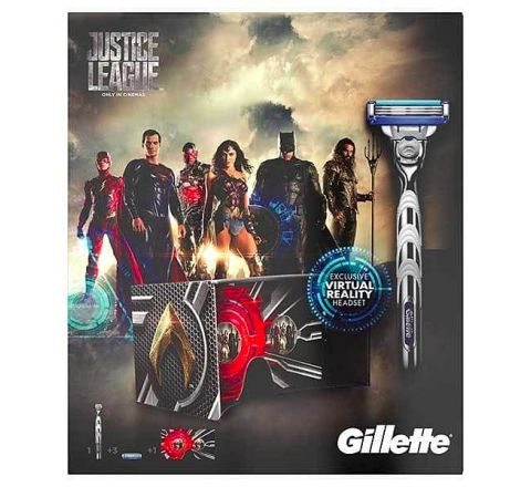 Justice League Special Limited Edition Gillette Mach 3 Gift Set
