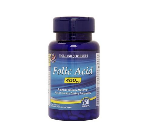Holland & Barrett Folic Acid 250 Tablets 400ug