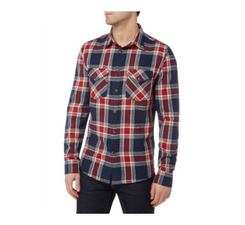 Lee Checked Shirt - Navy and Red