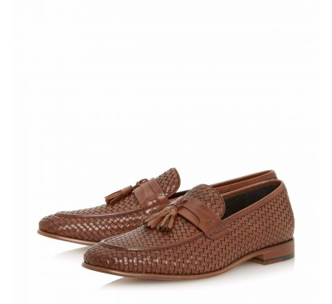 Paolo Woven Tassel Loafer Shoe - Dune London