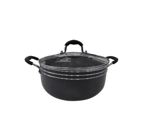 Ocean OC26 Ocean Cooking Pot W/Glass Lid 26cm - Black