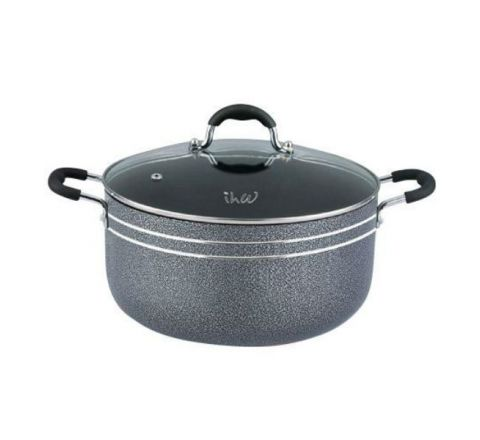 IHW Cooking Pot W/Glass Lid 22cm