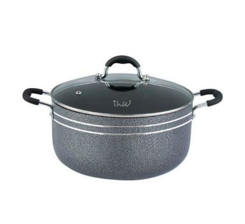 IHW Cooking Pot W/Glass Lid 24cm