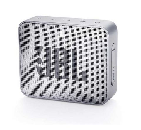 JBL GO2 Portable Bluetooth Speaker with Rechargeable Battery – Waterproof – Built-in Speakerphone – Grey