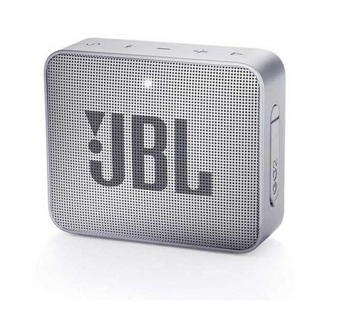 JBL GO2 Portable Bluetooth Speaker with Rechargeable Battery – Waterproof – Built-in Speakerphone – Grey