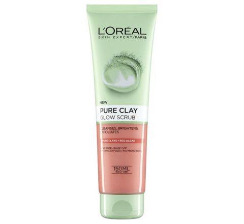 L'Oreal Paris Pure Clay + Red Algae Glow Scrub Foam Wash 150ml