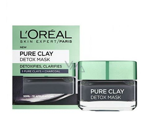 L'Oreal Paris 3 Pure Clay + Charcoal Detox Mask - 50ml