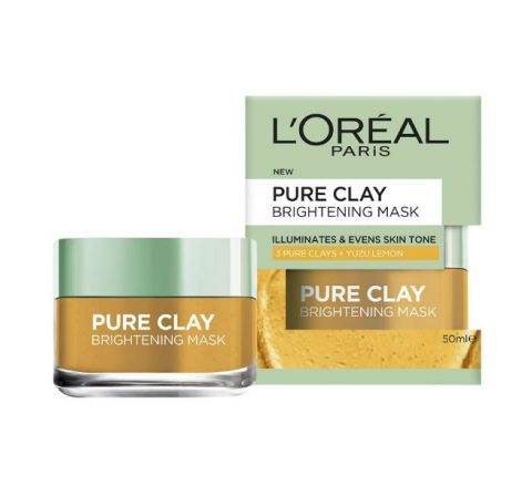 L'Oreal Paris 3 Pure Clays + Yuzu Lemon Bright Mask - 50ml