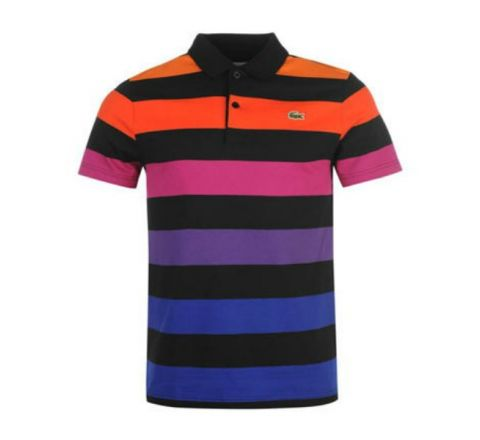 Lacoste Block Stripe Polo Shirt - Block Stripe Design