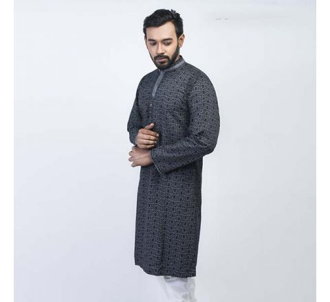 LAVELUX Cotton Black Mens Panjabi LMP112