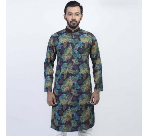 LAVELUX Cotton Multi-color Mens Panjabi LMP115
