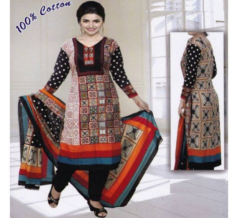 Unstitched Cotton Salwar Kameez MIA-01
