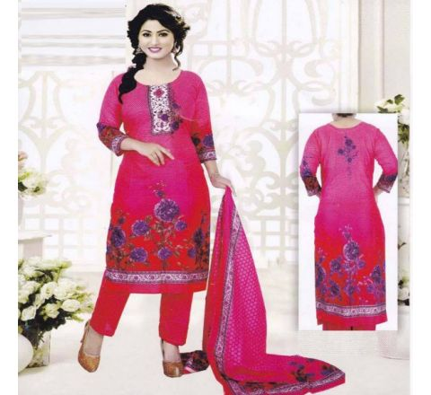 Unstitched Cotton Salwar Kameez MIA-10