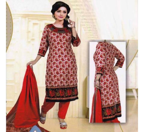 Unstitched Cotton Salwar Kameez MIA-12