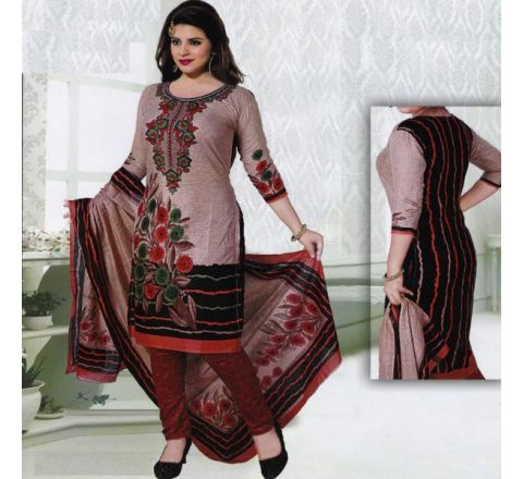 Unstitched Cotton Salwar Kameez MIA-17