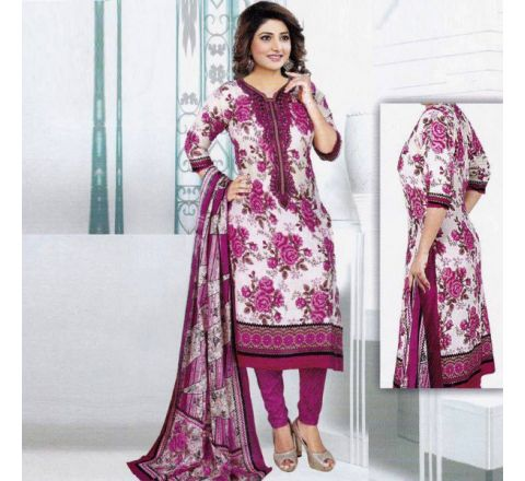 Unstitched Cotton Salwar Kameez MIA-03