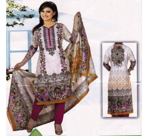 Unstitched Cotton Salwar Kameez MIA-05