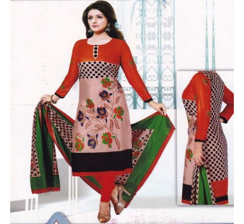 Unstitched Cotton Salwar Kameez MIA-06