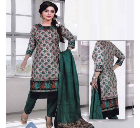 Unstitched Cotton Salwar Kameez MIA-08