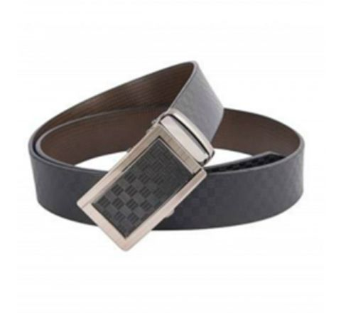 Mix leather Waist Belt-  Black & Silver