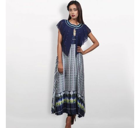 Georgette Indian Fabrics Katan Ladies Kurti
