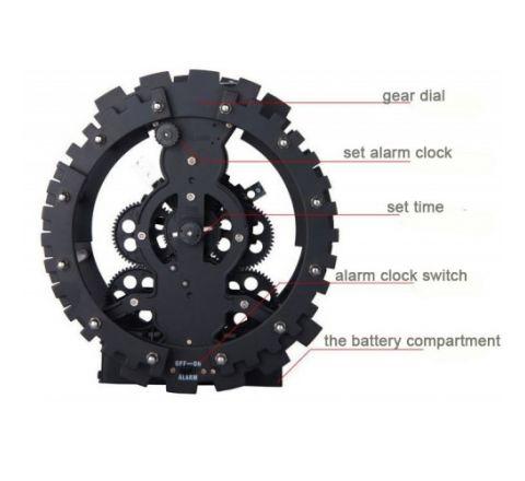 Gear Shape Table Clock