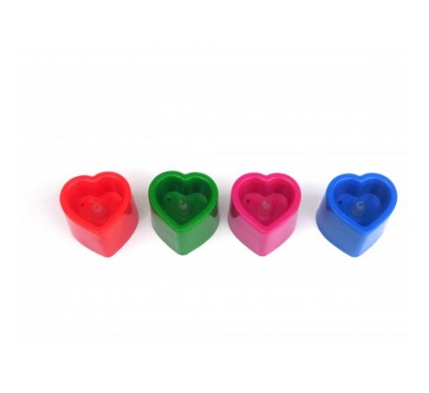4Pcs Heart Shape Led Candle