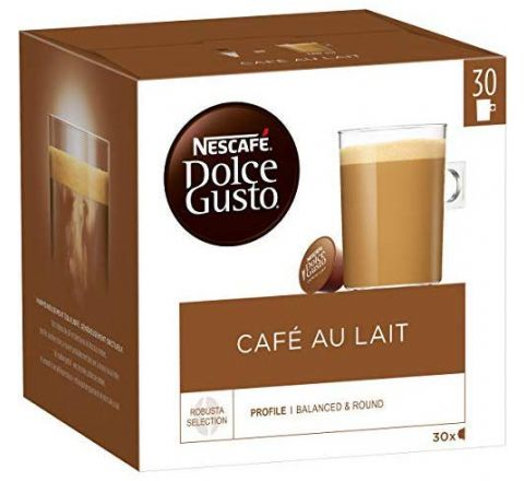 Nescafe Dolce Gusto Cafe au Lait, Coffee with Milk, Cappuccino, 30 Capsules.