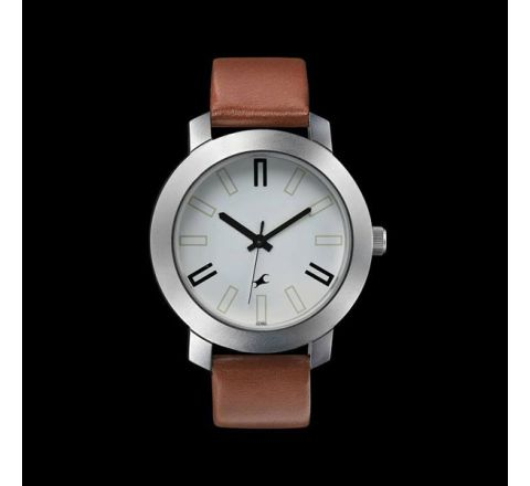 Fastrack Leather Analog Watch for Men - Brown