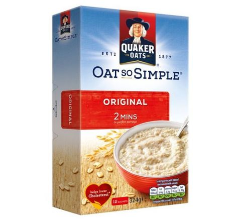 Quaker Oat So Simple Original Porridge 12 pack x 27g