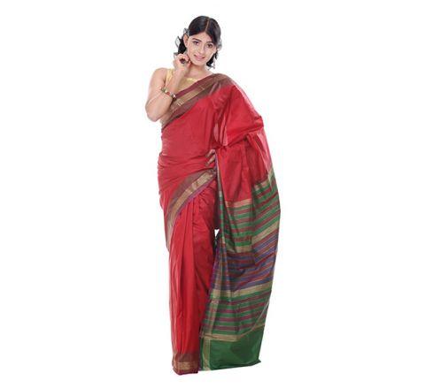Banarasi Katan Par Achol Gonga Jamuna  Saree OB14