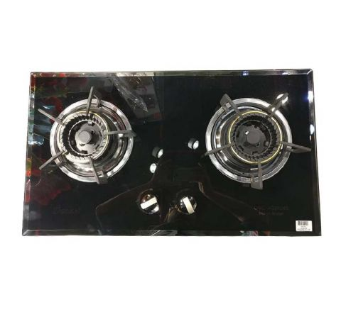OCEAN ELE Gas Cooker Double Burner Glass Top OGCH008
