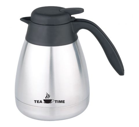 Ocean Vacuum Tea Pot White Colour On S/S Body OTP800L