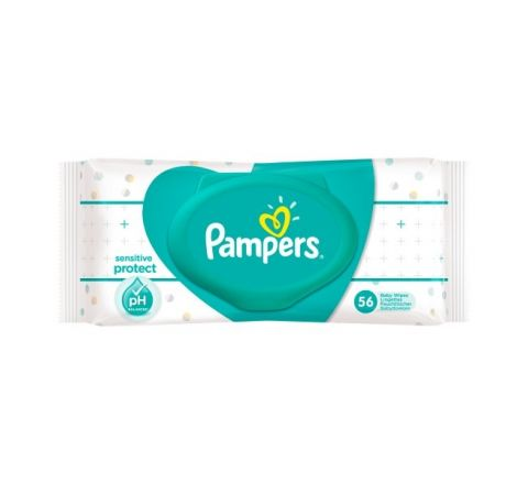 Pampers Sensitive Baby Wipes Single Pack 56 Wipes