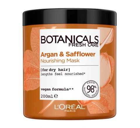 L'Oréal Paris Botanicals Argan & Safflower Dry Hair Vegan Hair Mask 200ml