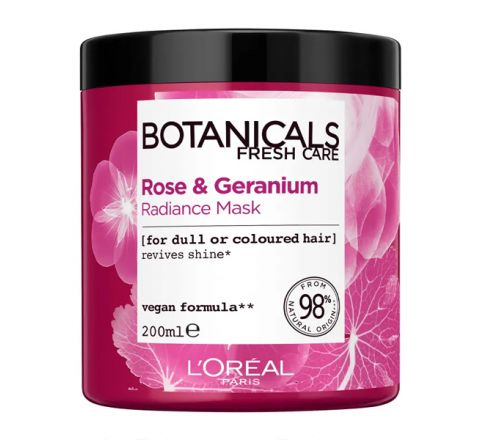 L'Oréal Paris Botanicals Rose & Geranium Enhancing Vegan Hair Mask 200ml