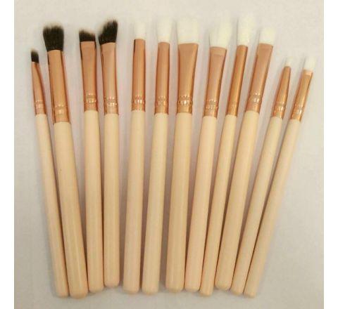 Eyeshadow Make up Brushes Set - 12 pcs