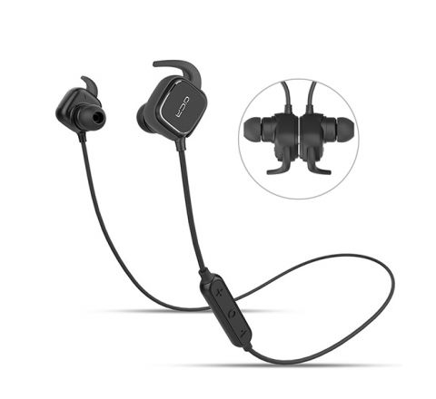 QCY QY12 SMART MAGNET BLUETOOTH EARPHONE WIRELESS HEADSET - BLACK